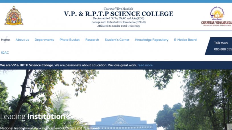 VP & RPTP Science Collage