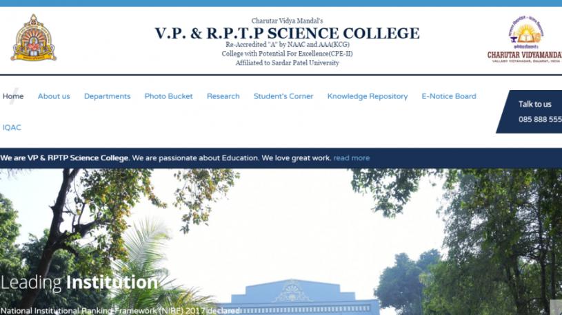 VP & RPTP Science Collage